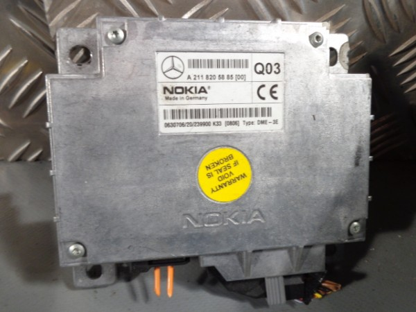 Steuergerät Mercedes W211 W220 W215 Nokia Handy Interface A 2118205885
