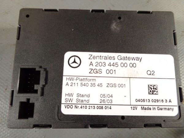 MERCEDES W203 S203 ZGS Zentrales Gateway Steuergerät A2034450000 A 2034450000
