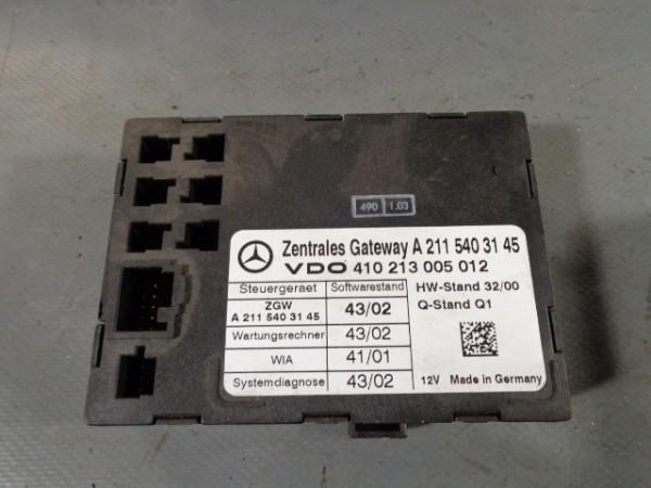 Mercedes W211 E 320 224PS Steuergerät Zentrales Gateway A2115403145